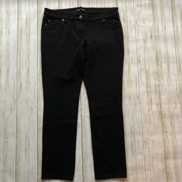 💚Eileen Fisher black cropped stretch pants